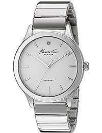 Women's 10024370 Genuine Diamond Analog Display Japanese Quartz Silver Watch