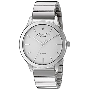 Kenneth Cole New York Womens 10024370 Genuine Diamond Analog Display Japanese Quartz Silver Watch