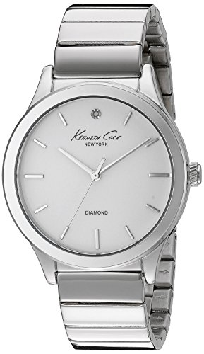 Kenneth Cole New York Women's 10024370 Genuine Diamond Analog Display Japanese Quartz Silver Watch
