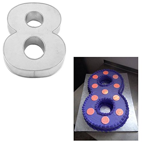 3 Cake Tins - Large Number Eight Birthday Wedding Anniversary Cake Tins/Pans / Mould by Protins 14