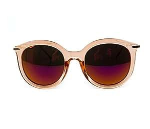 GSHGA Gafas De Sol De Moda Mujer Marea Marea Mujer Gafas De Sol,Throughtheorangeframeredreflective