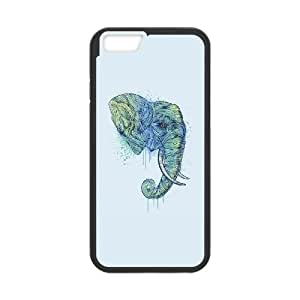 iPhone 6 Plus 5.5 Inch Cell Phone Case Black ah76 elephant art illust drawing animal LSO7734275