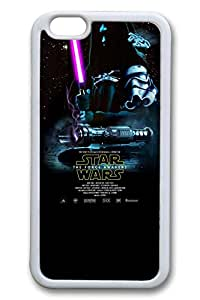 iPhone 6 plus Case, 6 plus Case - Extremely Soft White Rubber Case Bumper for iPhone 6 Star Wars The Force Awakens 5 Protective Soft Case Cover for iPhone 6 plus 5.5 Inches