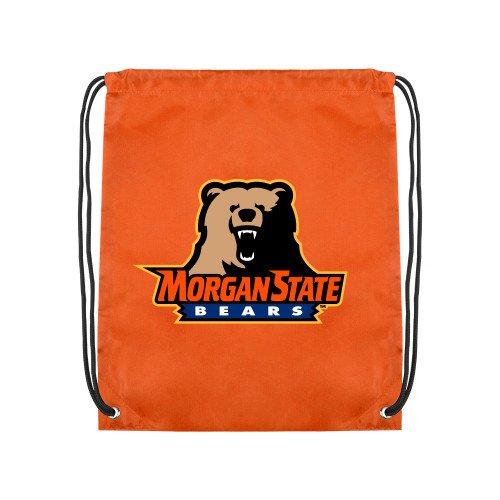 CollegeFanGear Morgan State Orange Drawstring Backpack 'Morgan State Bears w/Bear' by CollegeFanGear