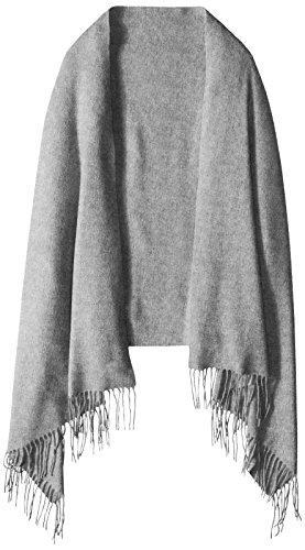 Phenix Cashmere Women's Solid 100 Percent Cashmere Wrap, Grey, One Size by Phenix Cashmere