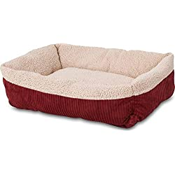 Aspen Pet Self-Warming Corduroy Pet Bed Several Shapes Assorted Colors