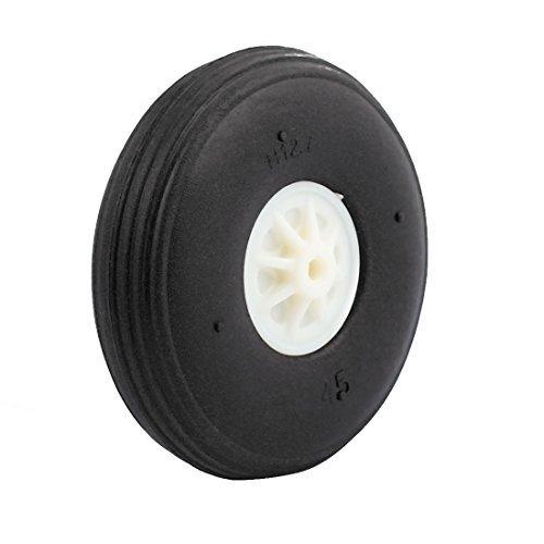 eDealMax Modelo Negro avión ultraligero de goma espuma DE 45 mm x 11, 5 mm Rueda DE 2 mm Diámetro del eje aviones de RC: Amazon.com: Industrial & Scientific