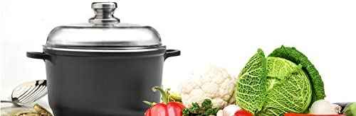 Eurocast Professional Cookware 8 2.6L Stock Pot with Glass Lid
