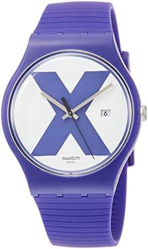 Swatch XX-Rated SUOV401 Purple Silicone Swiss Quartz Fashion Watch