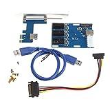 RingBuu 1 Port PCI-E 1X To 3 Slot 1X Switch Multiplier Expander HUB Expansion Riser Card
