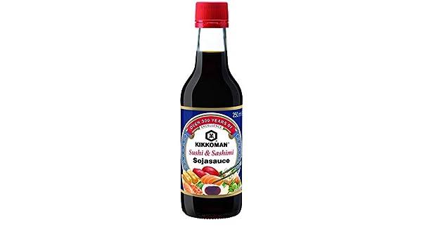 KIKKOMAN sushi y sashimi salsa de soja 250 ml: Amazon.es: Alimentación y bebidas