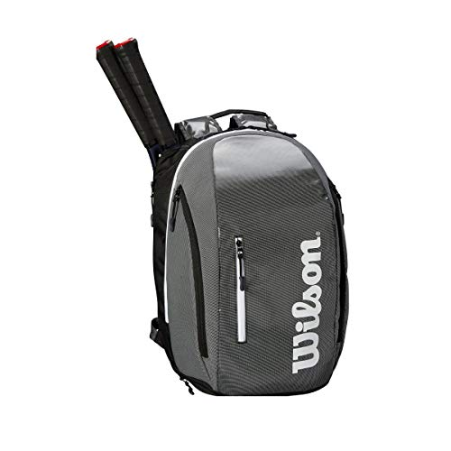 (Wilson Super Tour Backpack, Black/Grey)