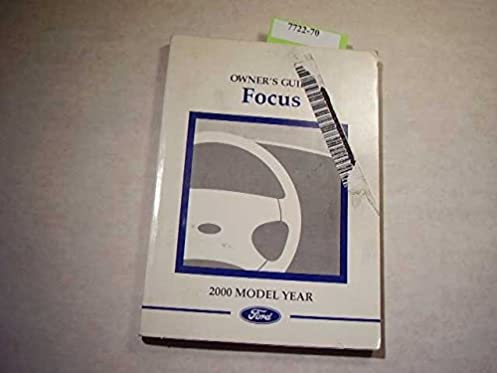 2000 ford focus owners manual ford amazon com books rh amazon com user manual ford focus 2012 user manual ford focus 2010