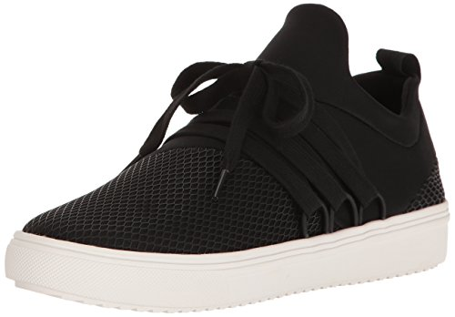 Steve Madden Women's Lancer Fashion Sneaker, Black, 6 M US