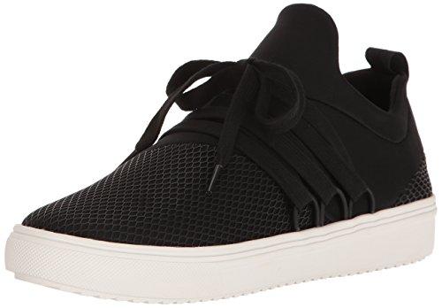 Steve Madden Women's Lancer Fashion Sneaker, Black, 7.5 M US