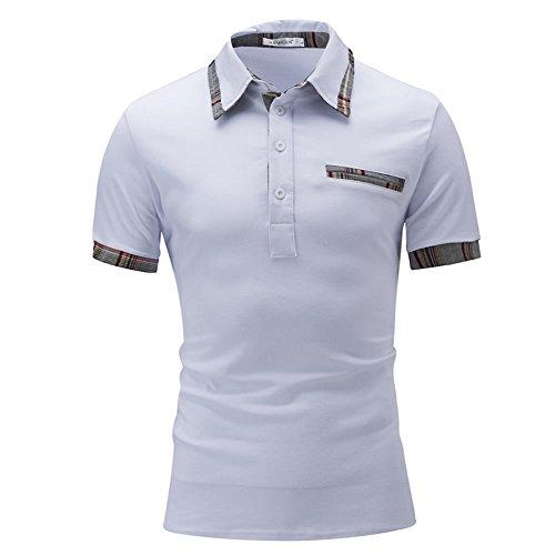 SHEYA ポロシャツ メンズ Tシャツ カットソー 半袖 ロンT エポレット ゴルフウェア トップス カジュアル コーデ 春 夏 秋 メンズ ファッション