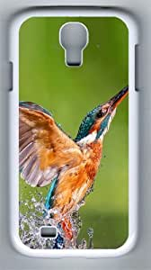 Kingfisher PC Hard Case Cover For Samsung Galaxy S4 SIV I9500 Case and Cover White