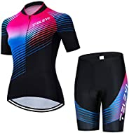 Weimostar Women's Cycling Jersey Bib Shorts Black Sets Short Sleeve Reflec