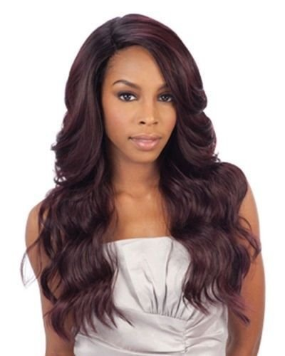 DANITY(2 Dark Brown) - FREETRESS EQUAL DEEP INVISIBLE 'L' PART LACE FRONT WIG (Model Model Wig)