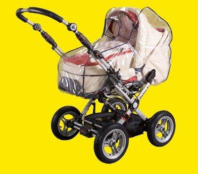 Regenverdeck, Regenhaube, Regenschutz für Kombi-Kinderwagen - Made in Germany