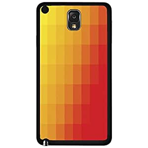 Yellow and Orange Gradient Squares Hard Snap on Phone Case (Note 3 III)