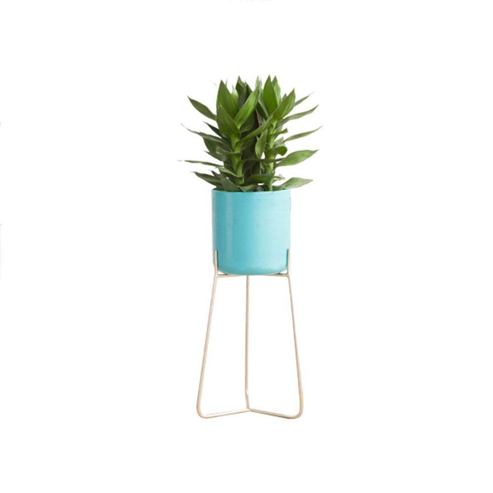 WI Flower Stand- Creative Nordic Iron Flower Shelf Indoor Living Room Balcony Floor Type Modern Simple Flower Stand,551926cm by WI