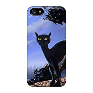 Forever Collectibles Black Cat Moonlight Hard Snap-on For SamSung Galaxy S5 Mini Phone Case Cover