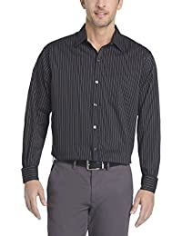 Men's Traveler Button Down Long Sleeve Stretch Black/Khaki/Grey Shirt