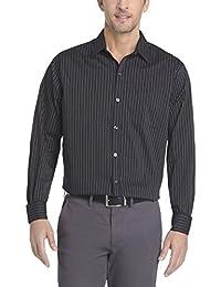 Men's Long Sleeve No-Iron Mini Gingham Traveler Button Up...