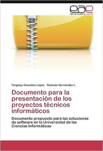 Documento para la presentación de los proyectos técnicos