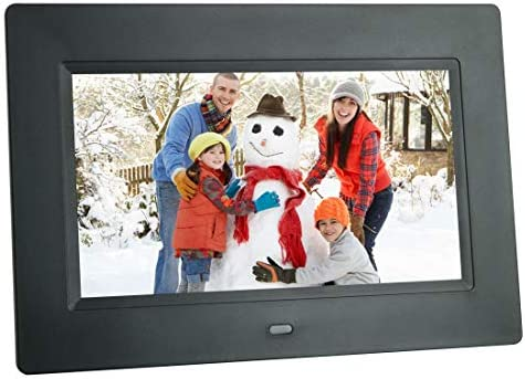 Digital Picture Frame 7 Inch Electronic Photo Frame 1024 x 600 High Resolution IPS Widescreen Display