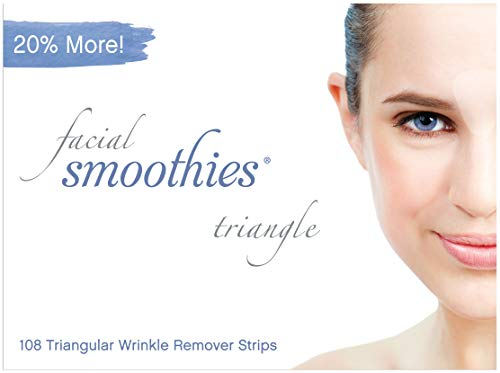 Frownies Eyes And Mouth - Facial Smoothies TRIANGLE Wrinkle Remover Strips, 108 Triangular Anti-Wrinkle Patches
