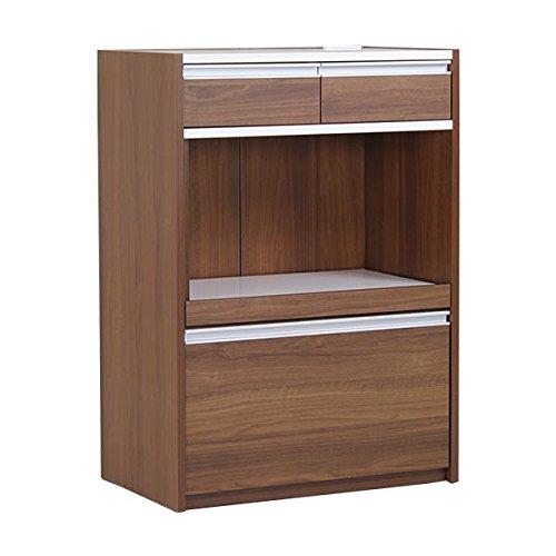 arne キッチンラック 伸縮 R+レンジ 75H ハイタイプ 幅74.2~136.6cm 高さ104cm ブラウン B00TQPJUFG ブラウン