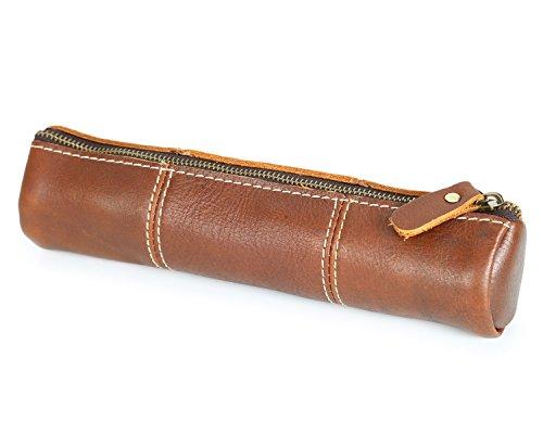 vecchio di tracolle Borse retro ottone primo manuali cerniera matita unisex strato cuoio strumenti verticale con e borsa Yqxr EgqI8