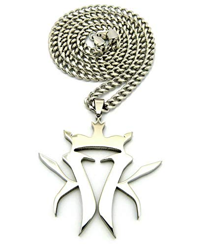 Werrox New Kottonmouth Kings Pendant 5mm/24 OR 30 Cuban Link Chain Necklace RC507CC | Model NCKLCS - 5609 | 30 (Kottonmouth Kings Chain)