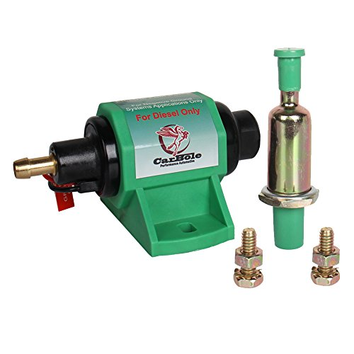 Electric Diesel Pump - CarBole Micro Electric Diesel Fuel Pump Universal 5/16 inch Inlet and Outlet 12V 1-2A 35GPH 4-7 P.S.I. Operating Fuel Pressure 2-wire Design