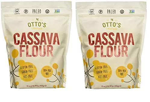 Otto's Naturals Flo 100% Natural Cassava Flour Made from Yuca Root Bag, 2 Pound, 32 Ounce (Pack of 1) (2-(Pack)) by Otto's Naturals LLC (Image #1)