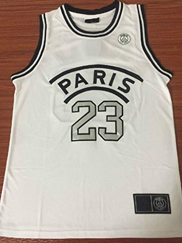 low priced d4f9d f8f07 Kylian Mbappe,Basketball Jersey,PSG, New Fabric Embroidered,Swag Sportswear  (White, L)