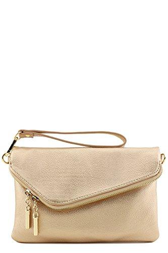 Rose Chain Bag Crossbody Gold Strap Clutch with Envelope Wristlet XqR0xwB