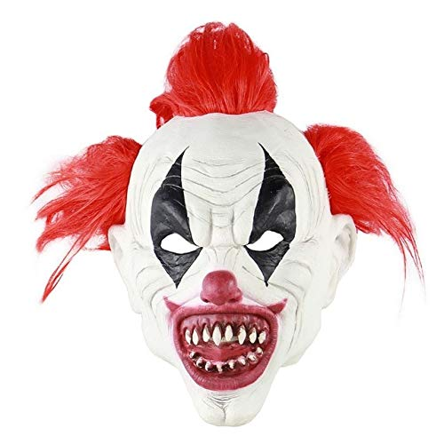 Latex Halloween Masks Australia (fumak Masquerade Mask - Latex Full Face Adult Mask Horror Sorcerer Clown Party Masks for Home Masquerade Halloween Party Escape Dress Up Party)