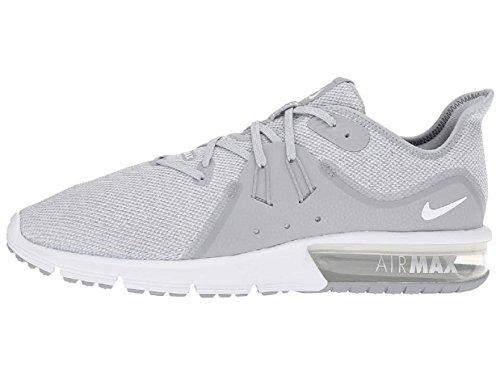 Nike Air Max Sequent 3 Mens In Esecuzione Lupo Grigio / Platino Puro Bianco