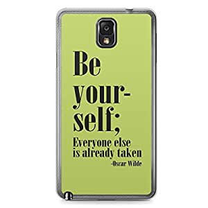 Be yourself Samsung Note 3 Transparent Edge Case