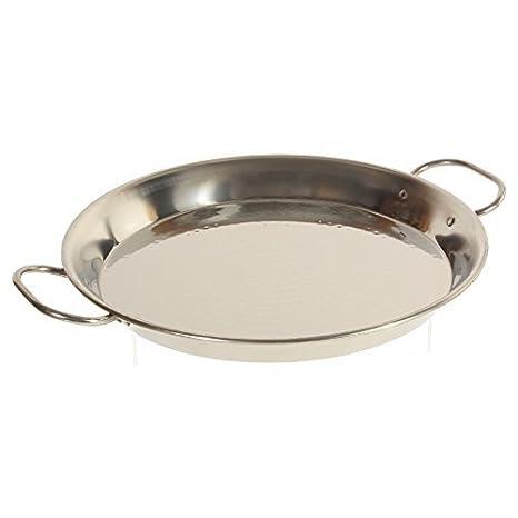 Garcima - Paella de acero inoxidable Cacerola, 32 cm) por la ...
