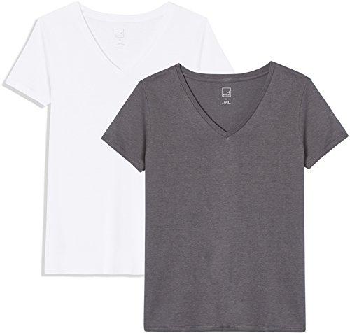 white Pearl Scollo T Donna Meraki A shirt V Grigio blackened zHwwWAq