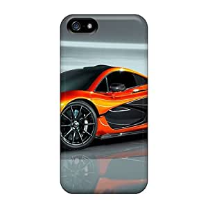 Iphone 5/5s Hard Back With Bumper Silicone Gel Tpu Case Cover Mclaren P1 Concept 2012