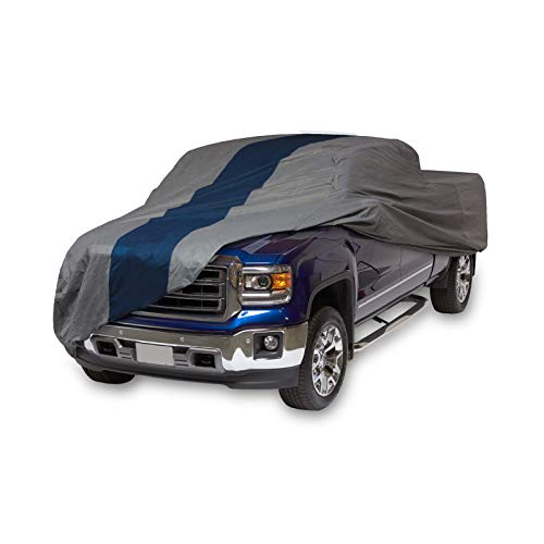Duck Covers Double Defender Pickup Truck Cover for Crew Cab Long Bed Dually Trucks up to 22' (Ford Double Cab)