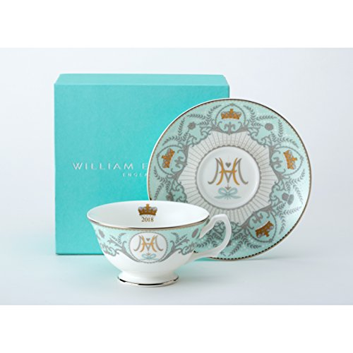 William Edwards H.R.H. Prince Harry & Meghan Markle Royal Wedding 19th May 2018 - The Royal Wedding Collection : Commemorative Fine Bone China Cup & Saucer