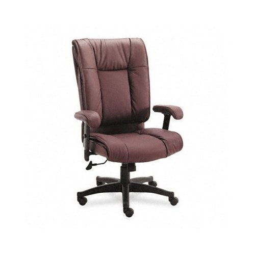 Office Star EX93824 93 Series Executive Leather High-Back Swivel Chair, (Custom Back Swivel Arms)