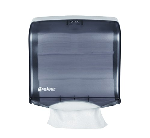 San Jamar T1755TBK Ultrafold Fusion Folded Towel Dispenser, Fits 400 Multifold/240 C-Fold Towels, Classic, Black Pearl - San Jamar Paper Towel Dispensers