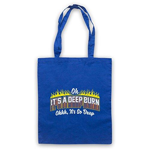 My Icon Art & Clothing It's A Deep Burn Oh It's So Deep Funny Slogan Sac d'emballage Bleu
